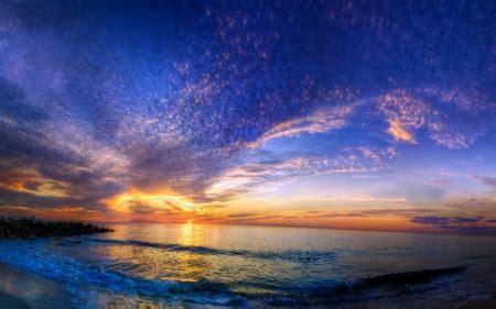 Beautiful Sunset Beach Sunsets Nature Background