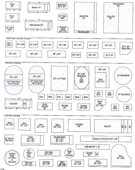 Dollhouse Miniature Template by Microscale Furniture Templates Dollhouse Printies