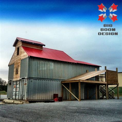 storage container homes for shipping container barn project in tennessee big boom