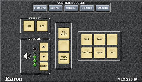 Mlc 226 Ip Gui Design Theme Extron
