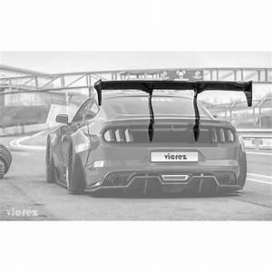 Vicrez Track Carbon Fiber Rear Wing Spoiler vz101479 | Ford Mustang 2015-2020