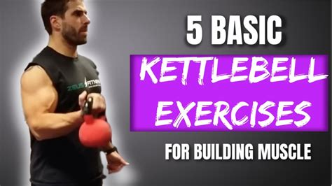 build tone muscle kettlebell exercises basic