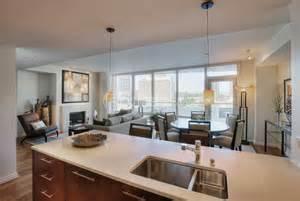 high rise kitchen faucet stock photos modern condo interior stock photography