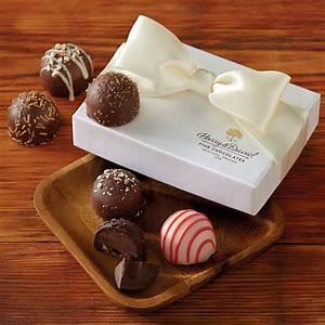 chocolate truffle wedding favors pearl box harry david With wedding favors chocolate truffles