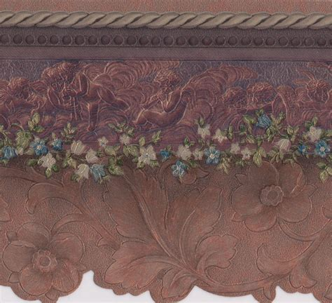 wallpaper border purple flower floral wall border