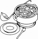 Soup Coloring Pages Bowl Drawing Tureen Vegetable Printable Sheets Yummy Getdrawings Pot Vegetables Kidsdrawing Colour Kitchen Soups Banana Popular Anycoloring sketch template