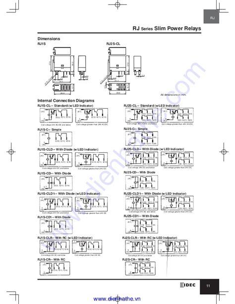 Idec Relay Socket Wiring Diagram by Idec Catalog Relays Sockets Idec