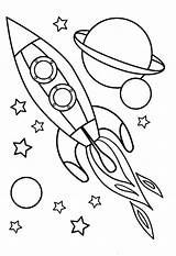 Coloring Night Pages Preschoolers Drawing Spaceship Getdrawings Getcolorings Printable Spaceships sketch template
