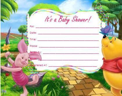winnie  pooh baby shower invitations home sweet home