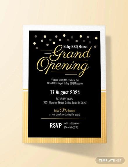 grand opening invitation designs templates psd ai