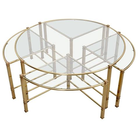 Buy Nesting Coffee Tables For Sale by Coffee Table In Brass With Four Nesting Tables
