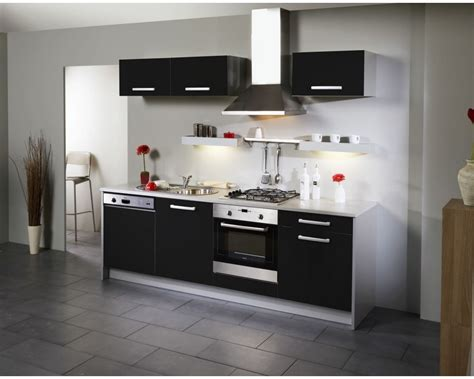 meuble haut cuisine noir meuble haut cuisine noir laqué cuisine idées de