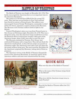 the battle comprehension worksheets and worksheets on