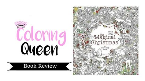 magical christmas  colouring book adult coloring