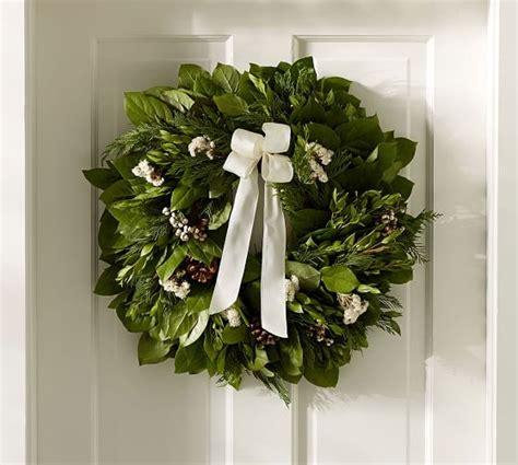 pottery barn wreath live fresh winter collection wreath pottery barn