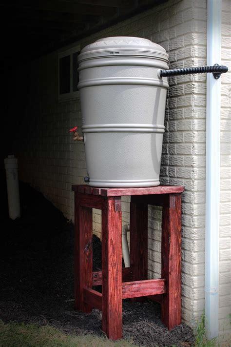 ana white rain barrel stand  installation diy projects