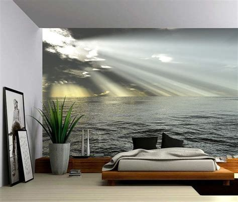 seascape ocean rays  light large wall mural