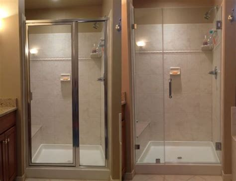 shower door frame only framed shower door vs frameless shower door why choose