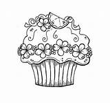 Coloring Cupcake Colouring Pages Cupcakes Printable Birthday Adults Happy Easy Sheet Adult Sheets Printables Cake Pantone Children Kid Books Template sketch template