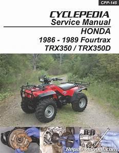 Honda Trx350 Fourtrax Trx350d Foreman Cyclepedia Manual Printed