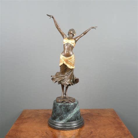 deco bronze statue dancer sculptures