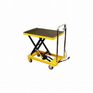 Heavy Duty Mobile 330lb Hydraulic Table Lift 9 U0026quot  To 28