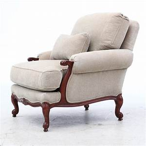Thomasville, Upholstered, Arm, Chair, With, Ottoman