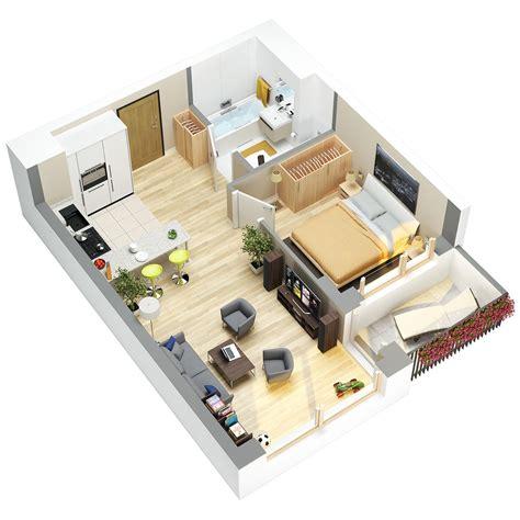 3d floor plans of flats studio apartment floor plans