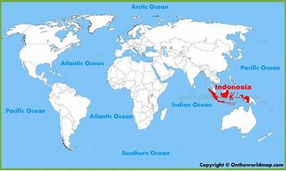 Map Indonesia Location Countries Global Country Border