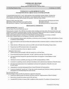 insurance claims representative resume sample insurance With auto insurance resume