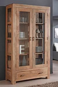 Garderobe Akazie Massiv : vitrine 100x175x40 cm akazie massiv stone glasvitrine schrank wohnzimmer bihar ebay ~ Sanjose-hotels-ca.com Haus und Dekorationen