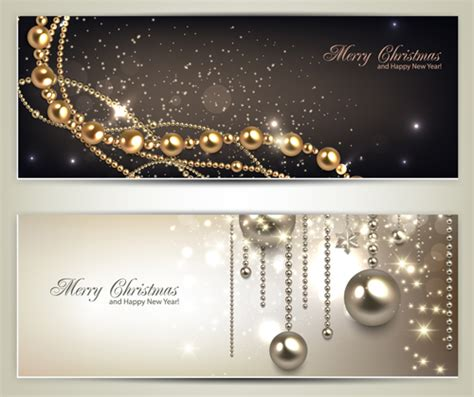 Luxury Jewelry christmas banners vector set 01 free download