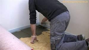 Auf Holz Fliesen : entkopplungsmatte verlegen youtube ~ A.2002-acura-tl-radio.info Haus und Dekorationen