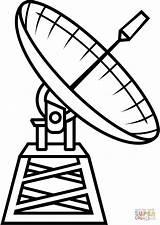 Astronomy Antenas Radioteleskop Telescopio Kolorowanka Coloringpages101 sketch template