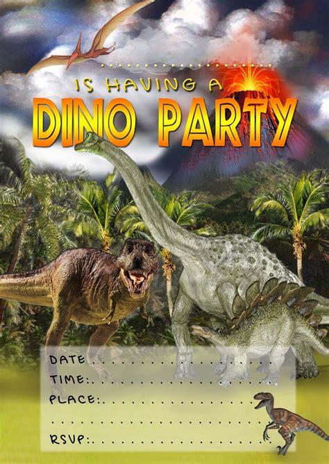 kids party invitations dinosaur invitation