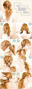 DIY Boho Braid Hairstyle ♥ | Hair | Pinterest