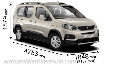 peugeot rifter dimensions peugeot rifter 2019 dimensions boot space and interior