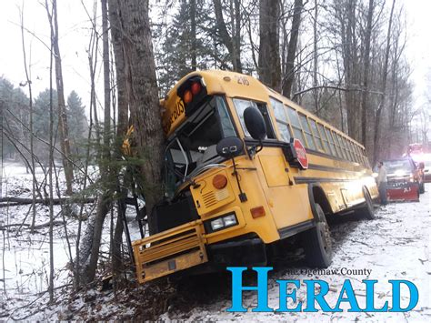 Sixteen students involved in school bus accident - Ogemaw ...