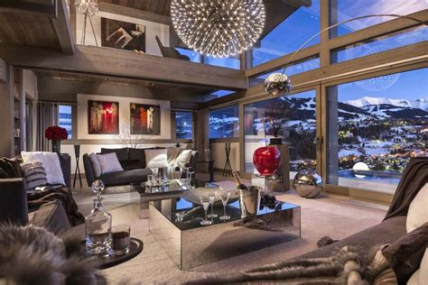 Warm Colors For A Living Room by Luxury Chalet Turns The French Alps Into The Perfect Ski