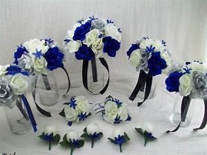 Royal Blue Horizon Blue BlackSilver And Ivory Bridal
