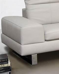canape angle allen j 5 places en cuir ou en tissu tetieres With canape d angle cuir avec tetieres