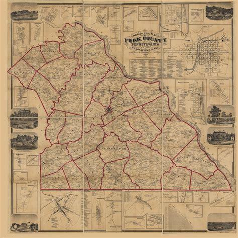 shearers map  york county pennsylvania  actual