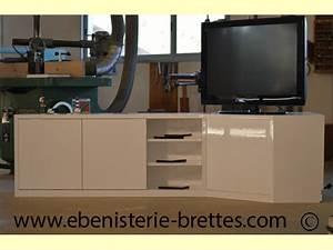 Meuble De Tele D Angle : meuble tv d 39 angle pour caen normandie ebenisterie brettes ~ Nature-et-papiers.com Idées de Décoration