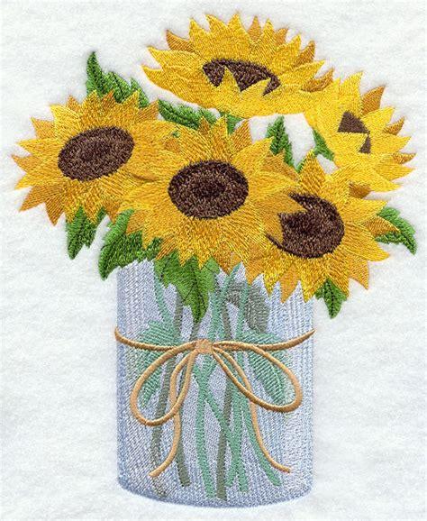 sunflowers in mason jar set of 2 bath hand towels