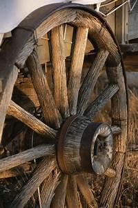 Wagon Wheel On Covered Wagon At Bar 10 Photograph by Todd
