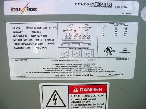 federal pacific 75 kva transformer step up 75 kva car wiring diagram