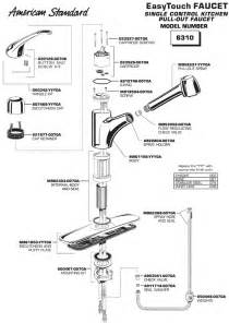 how to repair standard kitchen faucet standard faucet parts diagram