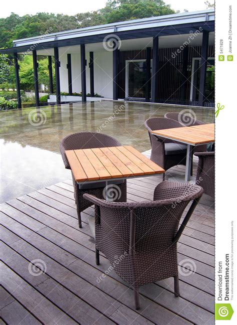 outdoor patio cane furniture stock photo image
