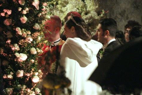 religious wedding  andrea casiraghi  tatiana santo