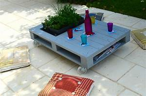 Table Basse Palettes : table basse en palette r cup 39 la chouette bricole ~ Melissatoandfro.com Idées de Décoration